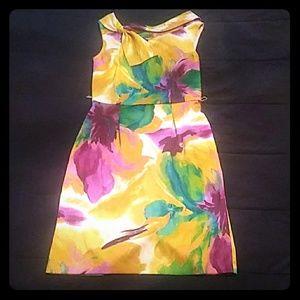 Floral Print Cocktail Dress